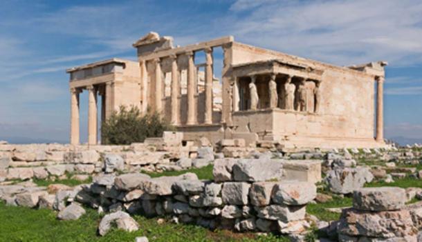 El Erecteion, lado oeste, la Acrópolis de Atenas. (Jebulon / Dominio público)