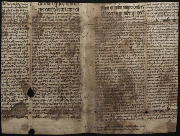 El fragmento de texto traducido del trabajo del político persa Ibn Sīna, se aplana para que pueda leerse. (Independiente)