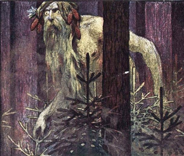 El Leshy, hombre salvaje, es una deidad tutelar de los bosques en la mitología eslava. (Рыцарь поля / Dominio público)
