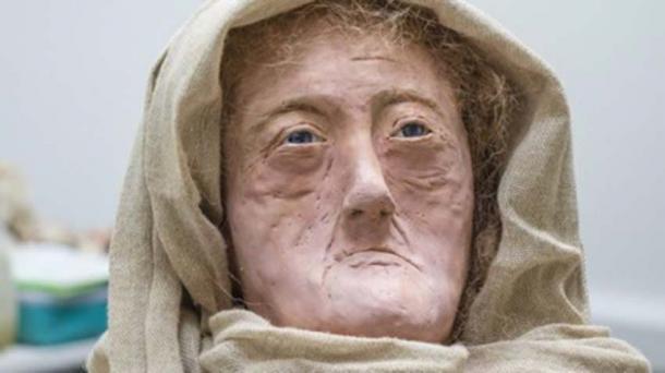 """El modelo de cera de """"Druida de las Hébridas"""" de 60 años producido por Karen Flemming. (Universidad de Dundee)"""