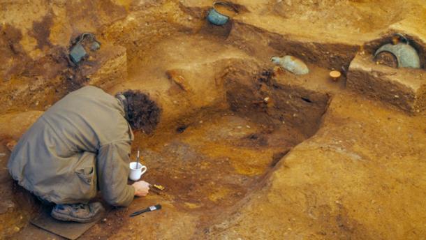 El sitio de entierro de Prittlewell fue descubierto en 2003. (MOLA)