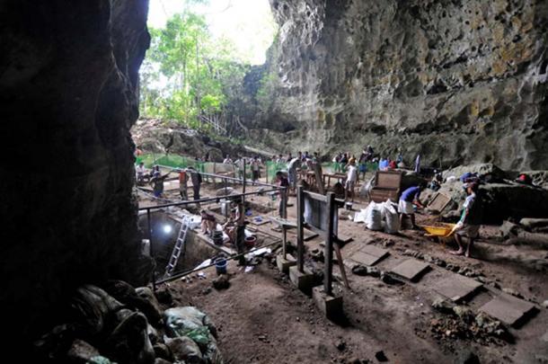 El sitio de excavación en la cueva del Callao. (Imagen: © Callao Cave Archaeology Project)