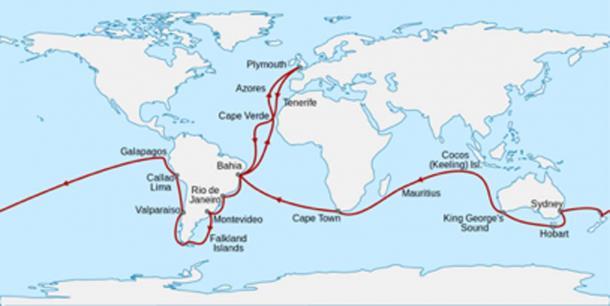 El viaje del Charles Darwin. (Sémhur / CC BY-SA 4.0)