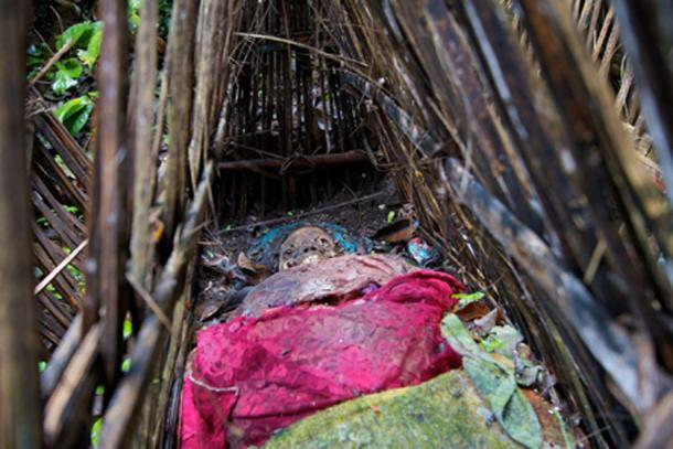 En Isla Calavera, los fallecidos solo están cubiertos por jaulas rudimentarias, Trunyan, Bali, Indonesia. (Yusuf IJsseldijk / CC BY-SA 2.0)