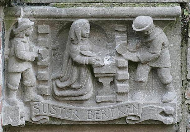 El recinto de la hermana Bertken. Foto de E de Groot & S Pieters, Universidad de Utrecht