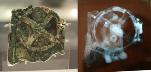Al principio, se pensó que los fragmentos de engranajes, diales y punteros del mecanismo Antikythera eran restos de un reloj mecánico. Sin embargo, el profesor Derek de Solla Price de la Universidad de Yale reveló que se trataba de una computadora astronómica hecha alrededor del año 87 a. C. (Andrew Barclay / CC BY-SA 2.0)