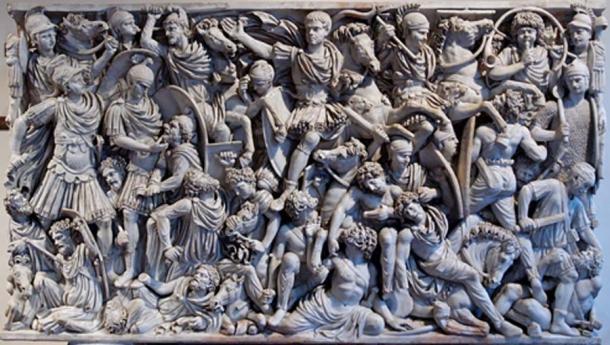 Escena que representa una batalla entre ostrogodos y romanos. (Jastrow / Dominio público)