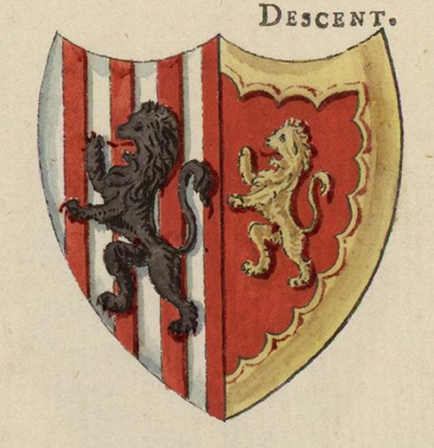 Escudos de armas de Glyndwr; Utilizado en la sangrienta revuelta contra el dominio inglés. (Jason.nlw / Dominio Público)