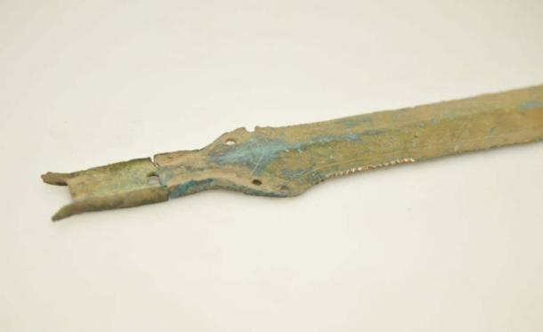 La espada tiene lo que se conoce como mango de lengua. (David Tanecek, CTK)