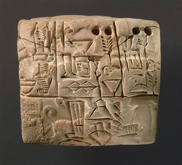 """Un ejemplo de una tablilla cuneiforme que también se utilizó para """"registrar"""" antiguas canciones de cuna mesopotámicas. (Museo Metropolitano de Arte / CC0)"""