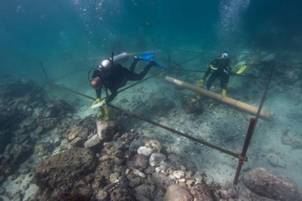Excavaciones submarinas de la Esmeralda. (Ministerio de Patrimonio y Cultura de Omán (MHC) y Blue Water Recoveries Ltd)
