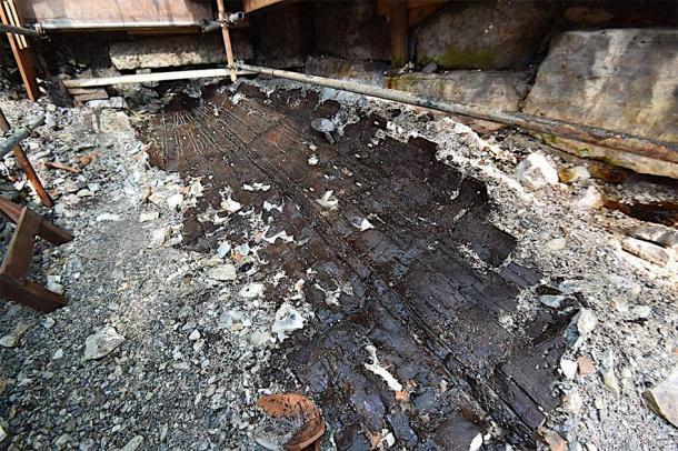 Otro disparo del naufragio romano excavado. (Grad Poreč)