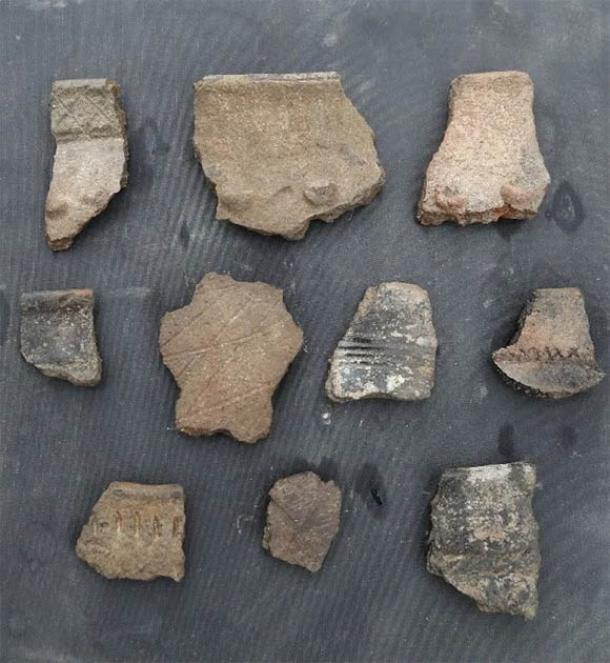 Los excavadores encontraron muchos fragmentos de cerámica. (Instituto de Arqueología de Xinjiang)
