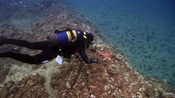 Explorando las ruinas submarinas del lago Fuxian, China. Fuente: Historia / Captura de pantalla de YouTube