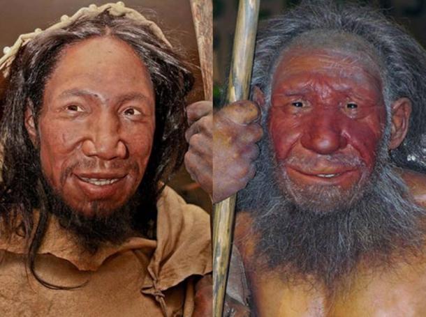 Comparación de rostros de Homo sapiens y Neanderthal. (Daniela Hitzemann / Stefan Scheer /CC BY SA 4.0)