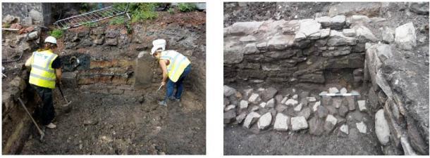 Características que se encuentran en el sitio en Edimburgo. (Arqueología AOC)