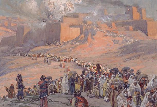 La huida de los prisioneros, de James Tissot, describe la destrucción de Jerusalén a manos de los babilonios. (Dominio público).