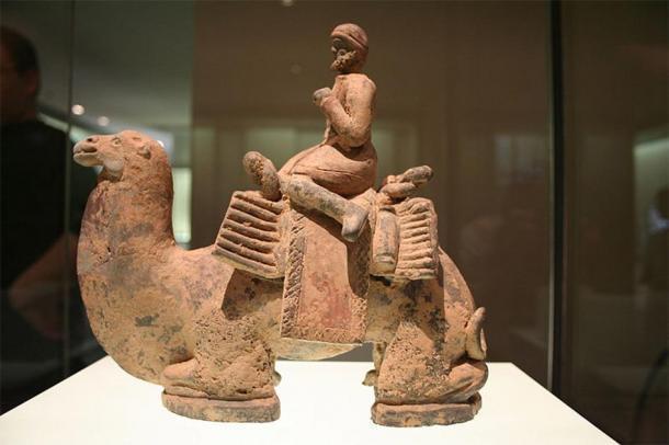 Un extranjero representado como un conductor de camellos; Escultura de terracota china de la dinastía Wei del Norte (386-534 dC). Museo Cernuschi, París, Francia. (Guillaume Jacquet / CC BY SA 3.0)