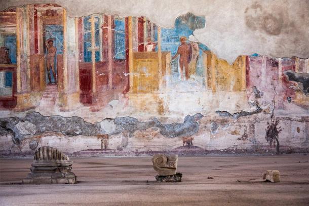Fresco en la antigua ciudad romana de Pompeya. (jiduha / Adobe)