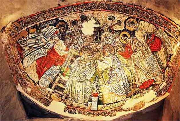 Frescos del monasterio de Wadi Natrun del período copto en el norte de Egipto, al sur de Alejandría. (Diaa abdelmoneim / CC BY-SA 3.0)