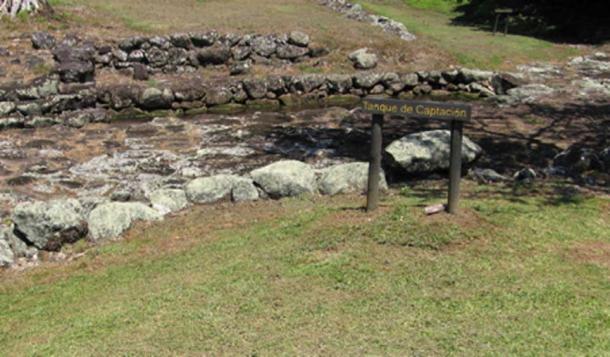 Tanque de captura de agua dulce construido en Guayabo de Turrialba (Gould, A / CC BY-NC 2.0)