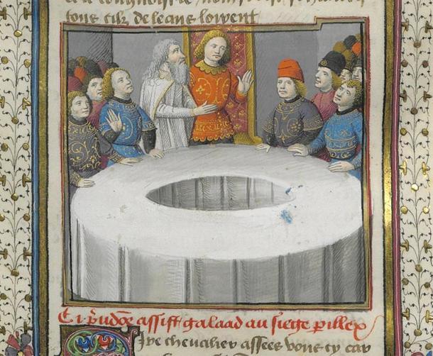 Sir Galahad toma el asiento peligroso en una ilustración del siglo XV, como se menciona en la leyenda artúrica. (Pmx / Dominio público)