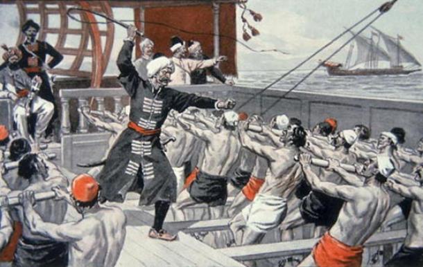 Esclavos de galera de los corsarios de Berbería. Fuente de la imagen