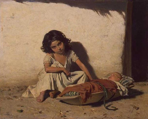 'Gipsy Children' de August von Pettenkofen. (Dominio público)