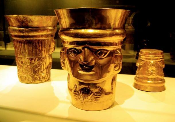 Espectacular vajilla de oro de la cultura Lambayeque