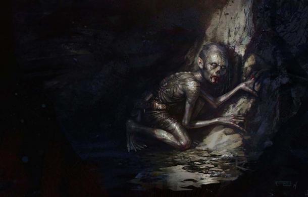Impresión de un artista de Gollum por Frederic Bennett. (CC BY-SA 4.0)