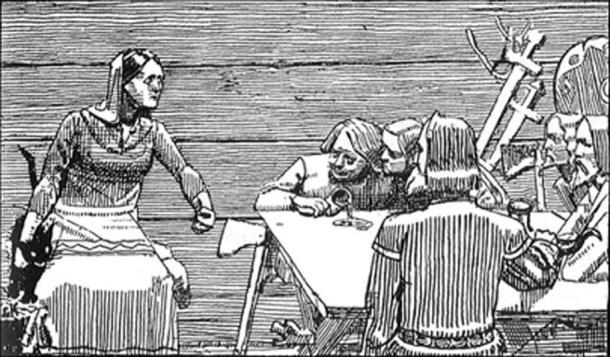 Gunhild y sus hijos. (Finn Bjorklid / Dominio Público)