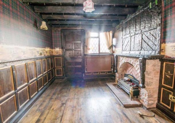 """Una de las habitaciones de estilo medieval en """"Agincourt"""" Crédito: Cavendish Residential Ruthin / rightmove"""