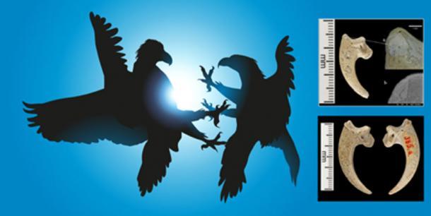 Hay evidencia de que los neandertales realizaron entierros rituales y usaron las garras del águila, lo que demuestra que la especie tenía un significado especial para ellos. (Izquierda, pict rider; Derecha, , Luka Mjeda, Zagreb)