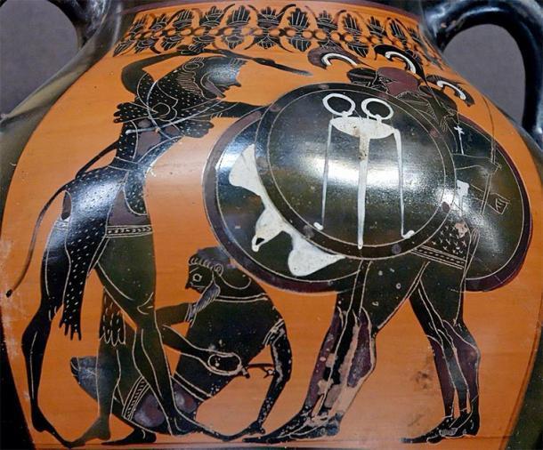 Heracles luchando contra Geryon, ánfora por el Grupo E, c.540 a. C. (Museo del Louvre / Dominio público)