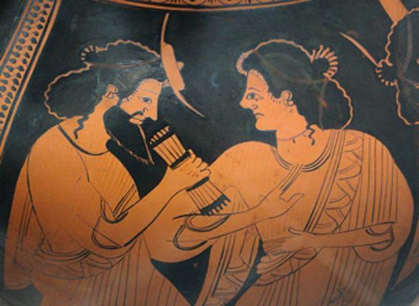 Hermes, mensajero de los dioses, con su madre Maia. (Bibi Saint-Pol / Dominio público)
