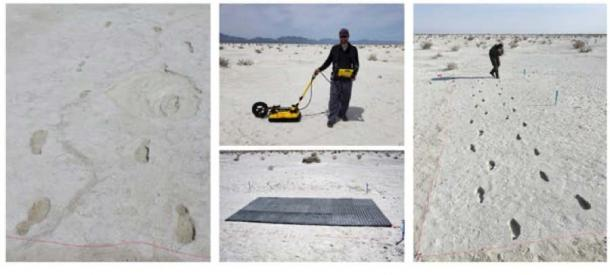 Huellas humanas de la última Edad de Hielo en el Monumento Nacional White Sands en Nuevo México. Matthew Robert Bennett, autor proporcionado