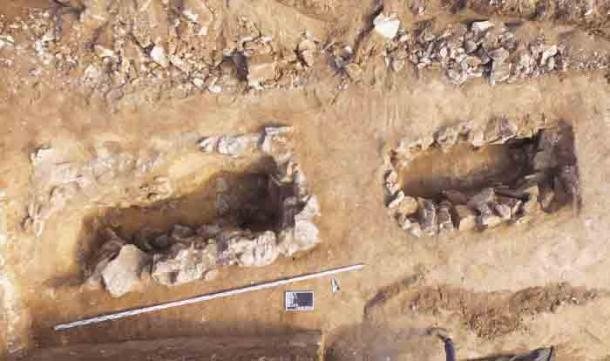 La mayoría de los restos humanos y ajuares han desaparecido, pero este era un comportamiento ritual común en ese momento. (J. Bulas)