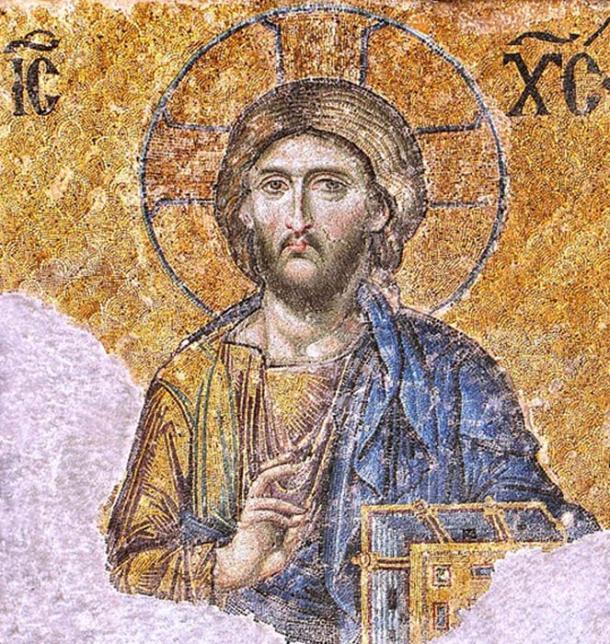 """Iglesia ortodoxa griega - Mosaico de Cristo Pantocrátor / """"gobernante sobre todo"""". (Soerfm / CC BY-SA 3.0)"""