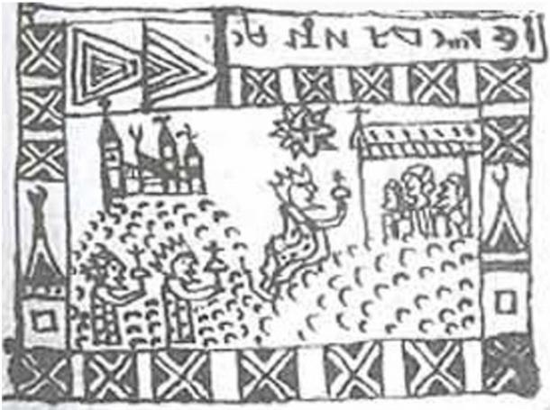 Ilustración en el Códice Rohonc. Dominio publico