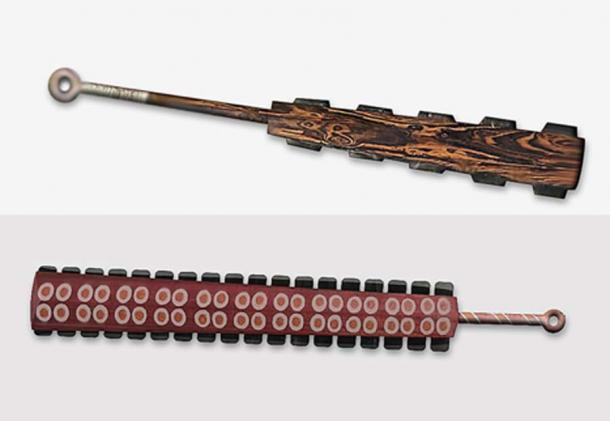 Ilustraciones de macuahuitl - espadas de obsidiana aztecas. (The Epoch Times)