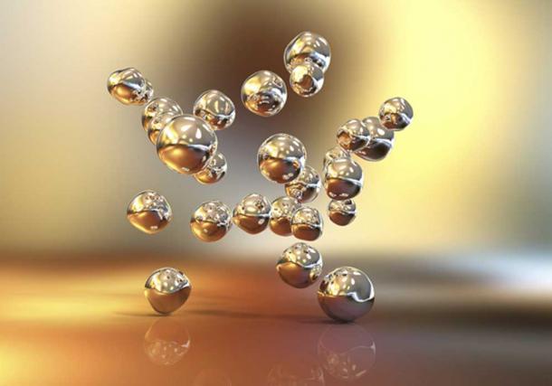 Ilustración 3D de nanopartículas de oro (Kateryna_Kon / Adobe Stock)