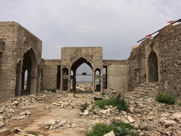 """Esta imagen, tomada en abril de 2017 durante una misión de la UNESCO a Nínive, que fue fuertemente destruida y excavada por ISIS en la """"segunda"""" caída de Nínive en 2015. (UNESCO / CC BY-SA 3.0)"""