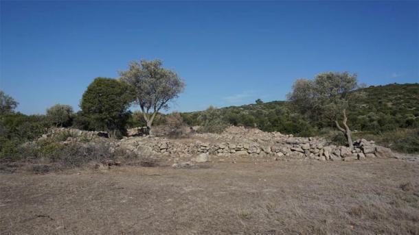 El sitio del Templo de Afrodita de 2.500 años de antigüedad en la península de Urla-Cesme en el oeste de Turquía (Agencia Anadolu)