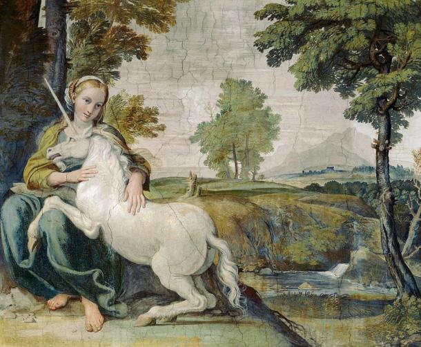 La Virgen y el unicornio, 1620. (Dominio público)
