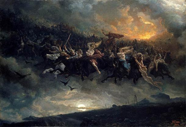 Al final de la Guerra Aesir-Vanir, Mimir es intercambiado como rehén y tomado por Aesir. (Dominio público)