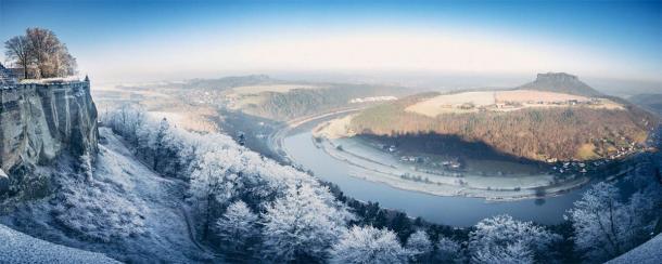 Las tribus eslavas de Polabia habitaban junto al río Elba, que se ve aquí en invierno, ubicado en la Alemania oriental moderna. (MJ Fotografie / Adobe Stock)