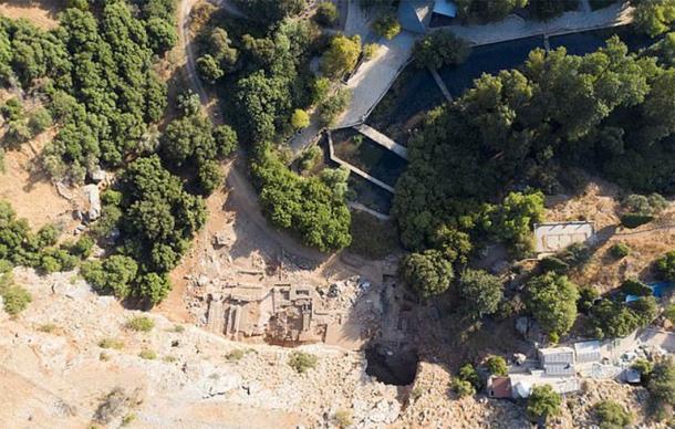 El sitio de excavación en Banias, conocido como Cesarea de Filipo, que los expertos ahora creen que podría ser el sitio de un Milagro de Jesús (Equipo de Excavaciones de Banias)