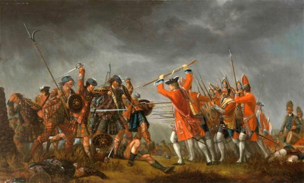 La batalla de Culloden fue la última batalla de Charles Edward Stuart en el levantamiento jacobita. Se llevó a cabo el 16 de abril de 1746, que culminó con la muerte de cientos de jacobitas. (Dominio público)