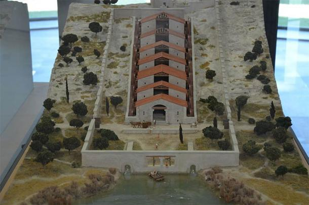 Maqueta de los molinos de agua de Barbegal en el Musée de l'Arles antiguo. (Carole Raddato / CC BY SA 2.0)