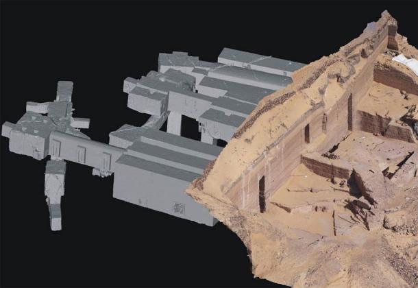 Modelo 3D de las tumbas de Qubbet-el Hawa creado mediante un proceso de escaneado y digitalización que el equipo ha estado realizando desde 2014. (Proyecto Qubbet-el Hawa)